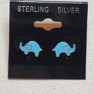 Other - .925 Stamped Elephant Stud Earrings